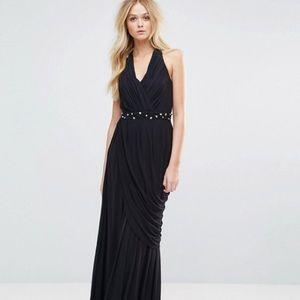 Black Halter Neck Maxi Dress ASOS Wedding Prom